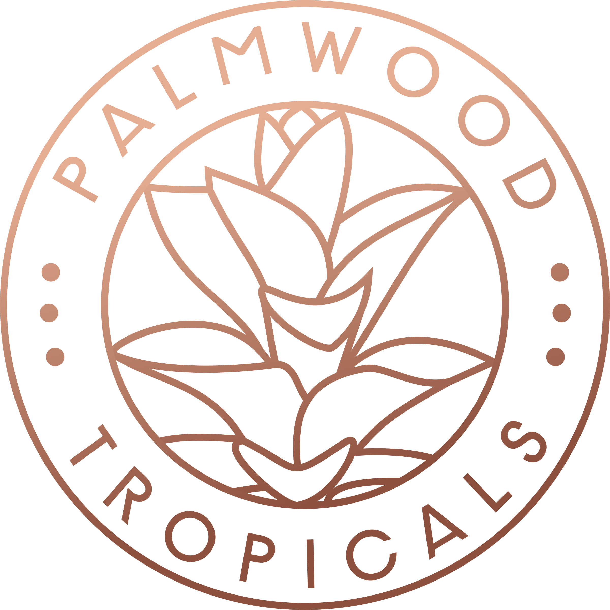 Palmwood Tropicals Double Circle Logo Copper